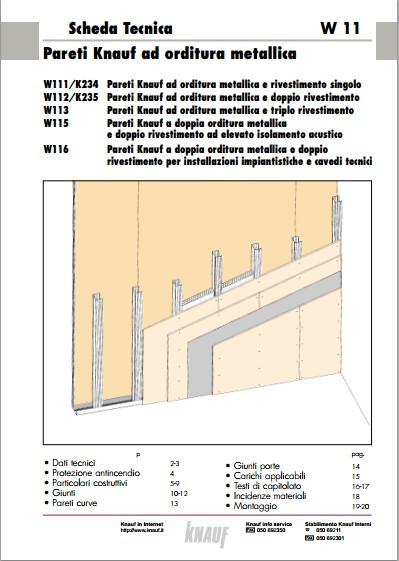Parete In Cartongesso Scheda Tecnica : Scheda tecnica parete cartongesso